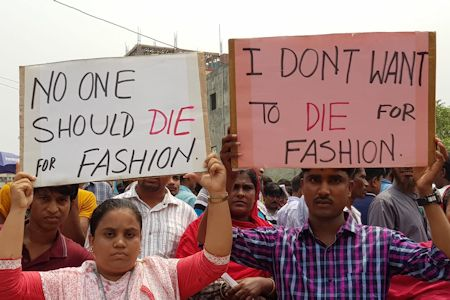 Nobody should die for fashion! © BCWS