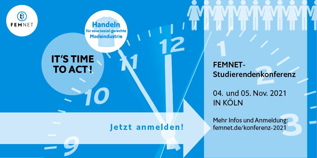 """""""It's time to act"""": Jetzt anmelden zur FEMNET – Konferenz 2021"""