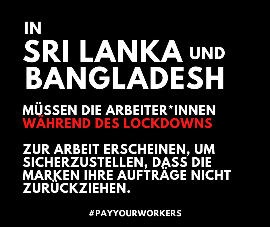 Über 50 Organisationen fordern Marken, Regierungen und Arbeitgeber in Bangladesch und Sri Lanka auf, für die Sicherheit von Textilarbeiter*innen zu sorgen