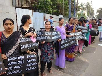 Frauendemo Bangladesch