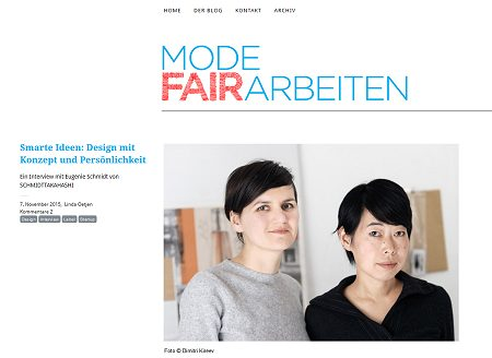 Blog Mode fair arbeiten