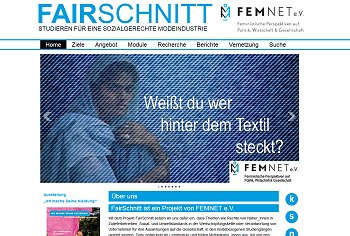 Screenshot der Webseite www.fairschnitt.org