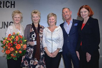 v.l.n.r. Renate Künast, Dr. Gisela Burckhardt, Barbara Unmüßig, Thomas Herrendorf, Jutta Wagner  Foto: © Stephan Röhl