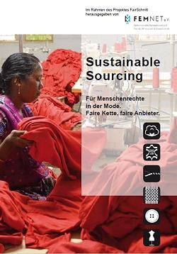 Titel der Broschüre Sustainable Sourcing