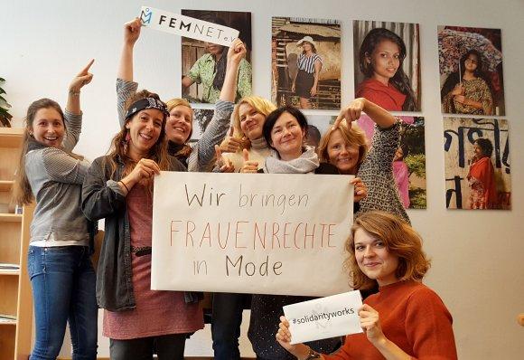 FEMNET: Wir bringen Frauenrechte in Mode. Foto: © FEMNET