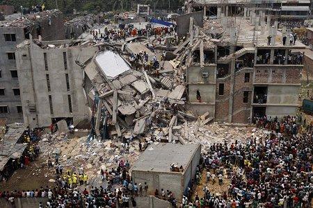 Das eingestürzte Rana Plaza Gebäude in Savar. Foto: rijans - Flickr.com