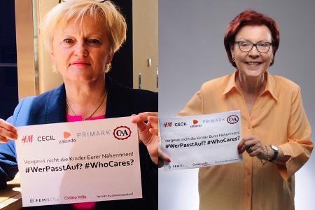 Prominente Unterstützung für #WerPasstAuf? Fotos: © Renate Künast / © Heidemarie Wieczorek-Zeul/Foto Vario Studio