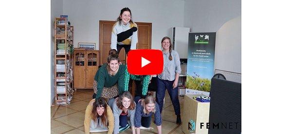 """Fair Play! Fair Pay!"" Video unserer FEMNET-Pyramide. © FEMNET"