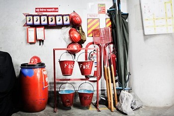 Feuerschutzequipment. Foto: © Pieter van de Boogert