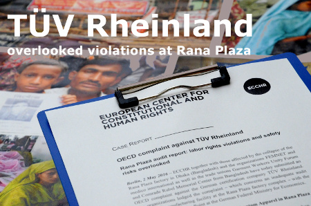 OECD complaint against TUV Rheinland photo ©FEMNET