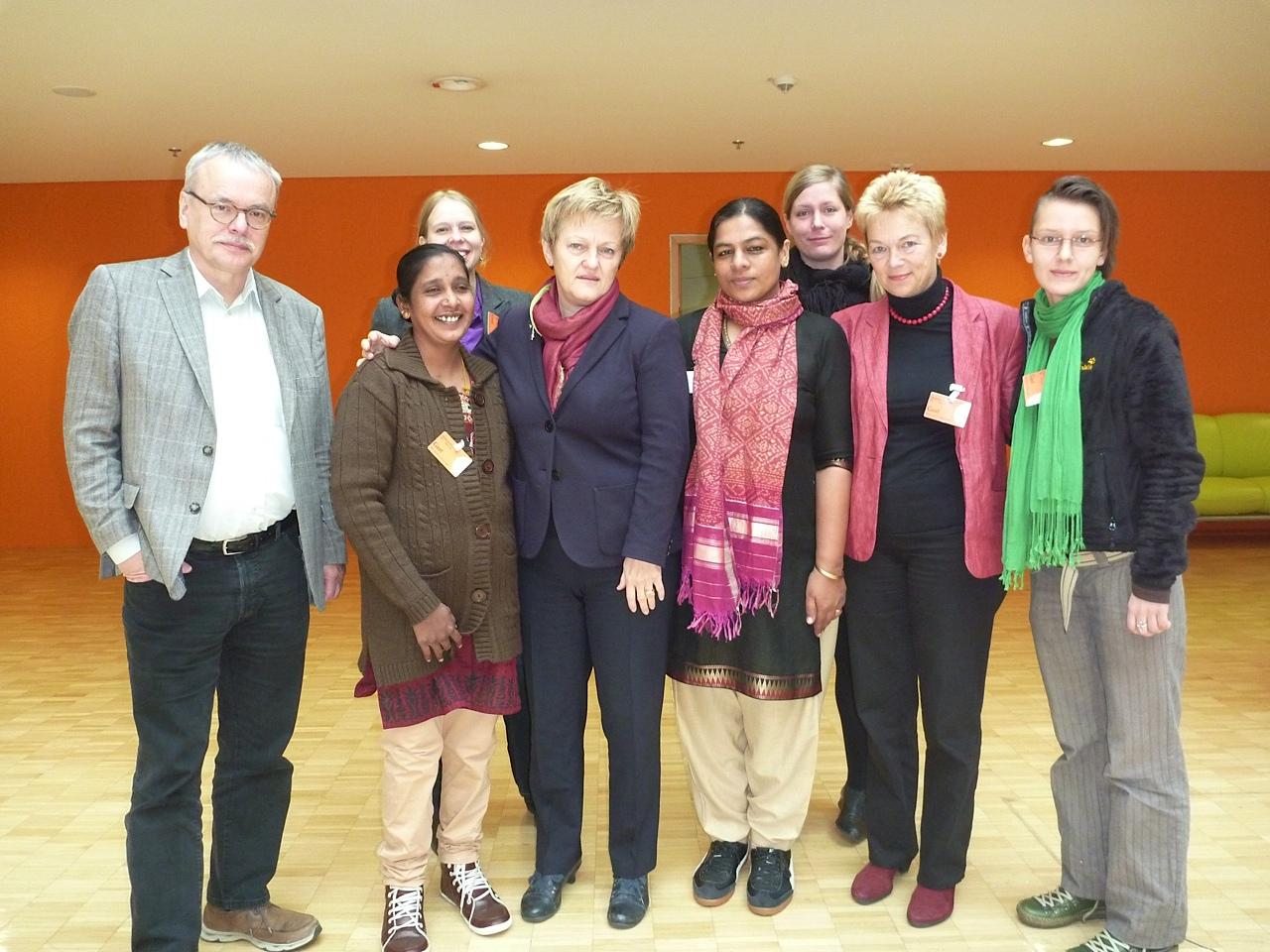 Im Abgeordnetenhaus Berlin: Treffen mit den Abgeordeten Uwe Kekeritz und Renate Künast, beide Bündnis 90/DIE GRÜNEN
