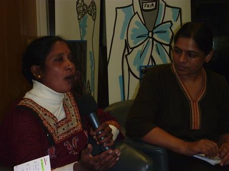 Maheshwari Murugan aus Tamil Nadu und Anita Cheria aus Bangalore