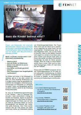 FEMNET Factsheet Kinderbetreuung