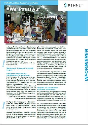 FEMNET Factsheet WerPasstAuf, dass Unternehmen Verantwortung übernehmen?