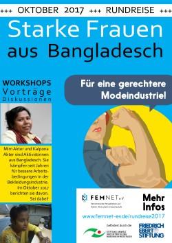 Poster FEMNET Rundreise 2017